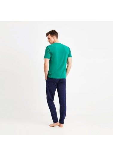 Nautica M136PJTK.YES Nautıca Erkek Yeşil Pijama Takımı Yeşil